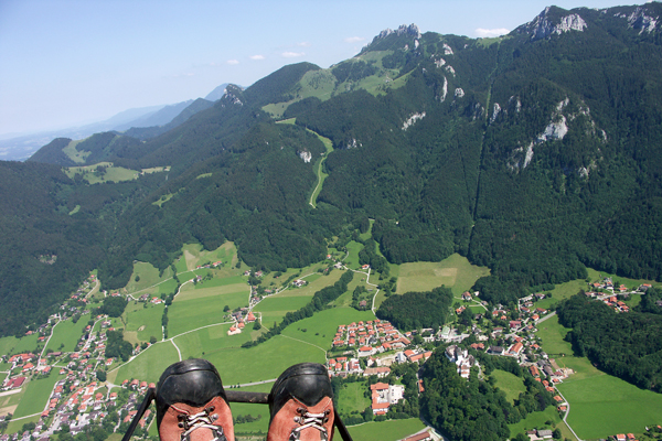 Aschau im Chiemgau, Germany as seen from Paraglider - Author: Bernhard Hecker - Lizenz: CC-BY-SA-2.0-DE