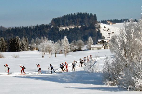 Cross-country skiing Schwedentritt - Langlauf (Skating-Stil) auf der Loipe Schwedentritt, Einsiedeln, Schweiz - Author: Markus Bernet - Lizenz: CC-BY-SA-2.5