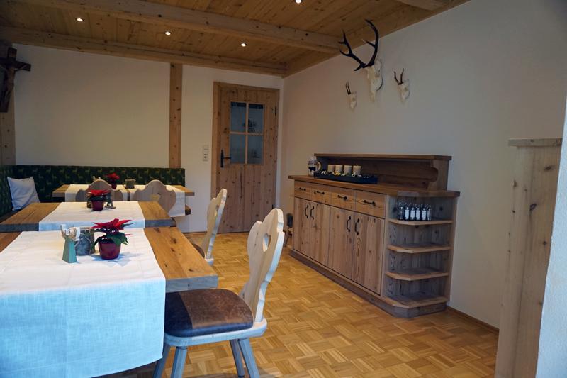 Frühstücksraum (1) - Ihr Frühstücksraum mit Theke für Buffet