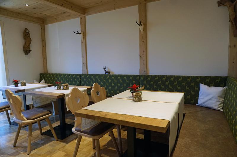 Frühstücksraum (2) - Der Frühstücksraum mit Eckbank und Kissen