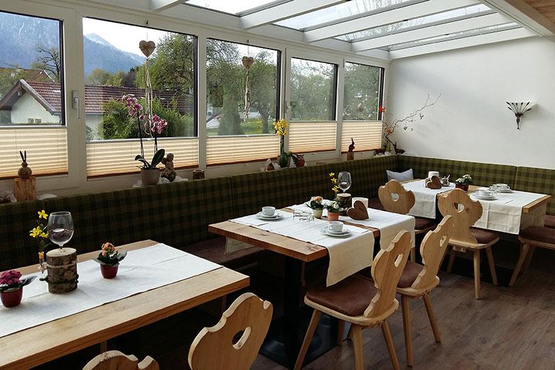 Frühstücksraum (6) - Der neue Frühstücksraum im Wintergarten
